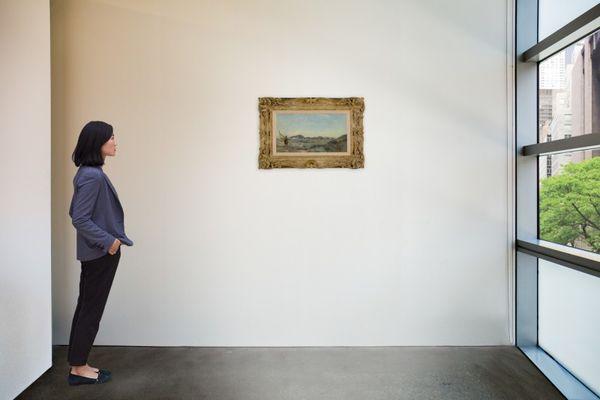 L'huile sur panneau du peintre impressionniste Jean-Baptiste Corot, vendu aux enchères à new-York.