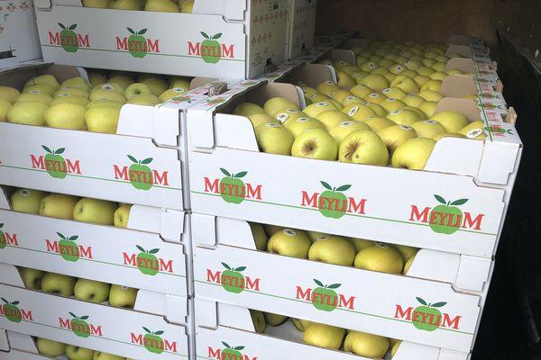 Les pommes distribuées aux soignants de deux circonscription de Dordogne et de Haute-Vienne