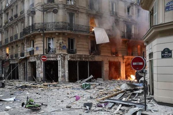 Une explosion a eu lieu au croisement de la rue de Trévise et de la rue de Montyon dans le IXe arrondissement de Paris.