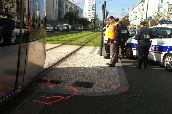 Accident de tramway à Tours (Indre-et-Loire)