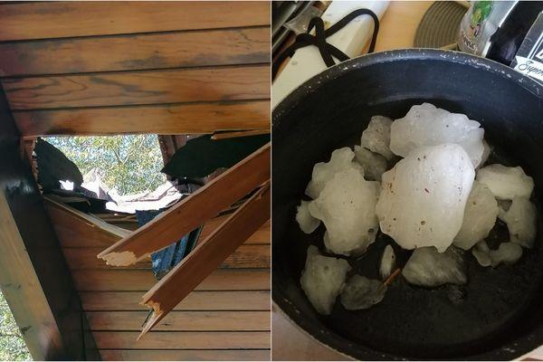 Un bloc de glace a traversé la toiture d'une habitation à Bons-en-Chablais, en Haute-Savoie