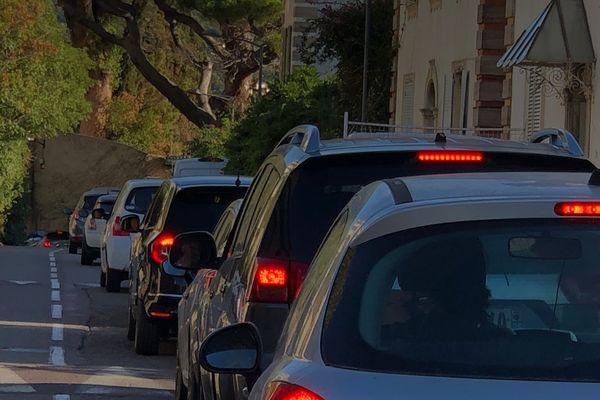 Des kilomètres d'embouteillages ont congestionné Bastia durant plus de deux heures.