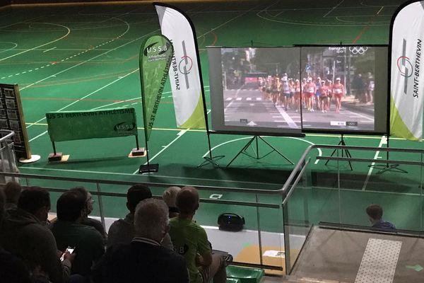 Une cinquantaine de personnes réunies à Saint-Berthevin pour suivre la course de Gabriel Bordier.