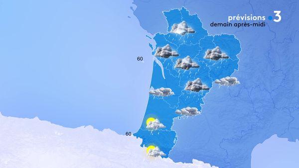Beaucoup d'averses encore demain surtout sur la moitié Nord de la région...