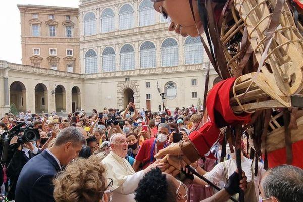 Amal avec le Pape, à Rome