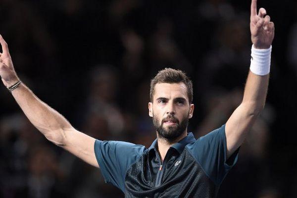 Benoît Paire, après sa victoire contre Gaël Monfils, aux Masters 1000 de Paris-Bercy