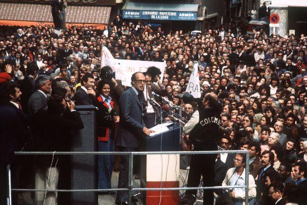 Perpignan - VGE en campagne électorale pour la Présidentielle - 29 avril 1974.