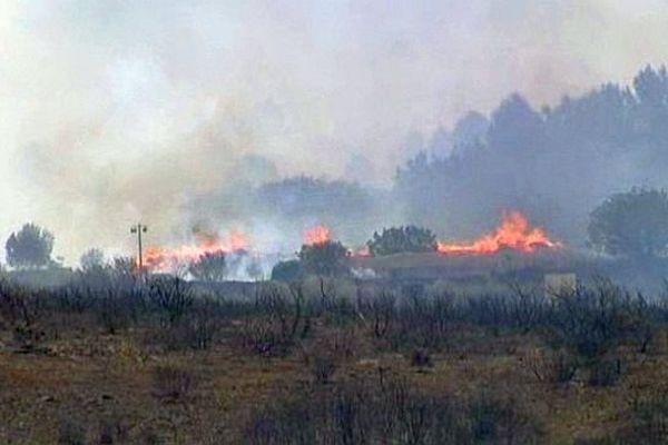 Saint-Georges-d'Orques (Hérault) - un incendie détruit 20 hectares - 13 mai 2014.
