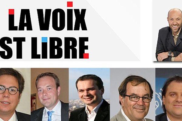 """Nicolas Soret, Ludovic Rochette, Edouard Cavin, François Deseille, Alain Raymont invités de l'émission """"La voix est libre"""" sur France 3 Bourgogne le 9 novembre 2013"""