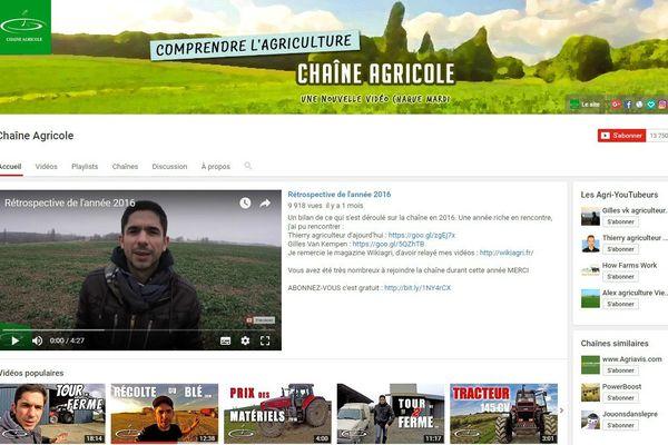 La chaîne agricole du youtubeur David Forge a dépassé le million de vue