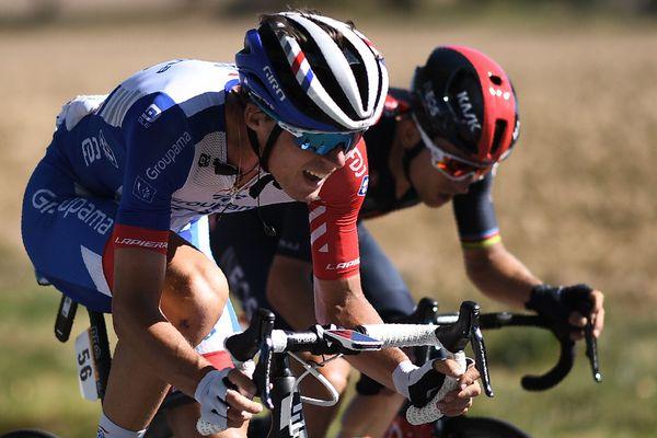 Le jeune Finistérien Valentin Madouas lors de la 7e étape du Tour de France