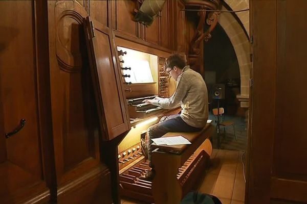 Quentin du Verdier a joué dimanche 21 avril lors de la messe de Pâques à la cathédrale de Tulle