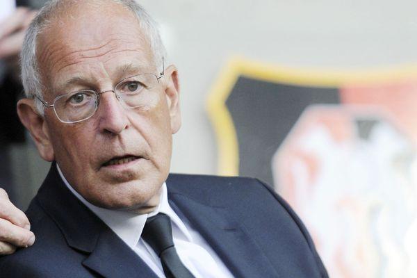 Patrick Lelay était un fervent défenseur de la culture bretonne. Ici, lors d'un match du Stade Rennais en 2010, dont il fut président deux ans