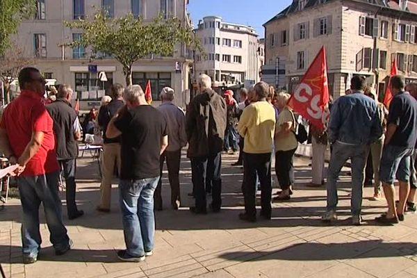 Plusieurs dizaines de personnes ont manifesté à Vesoul