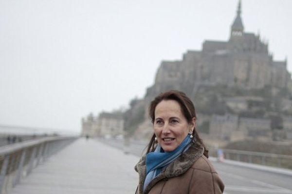 Ségolène royal lors de sa précédente visite au Mont-Saint-Michel le 4 décembre dernier