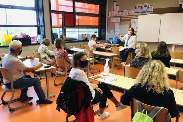 Pré-rentrée masquée pour les professeurs de l'école de la Musau à Haguenau.