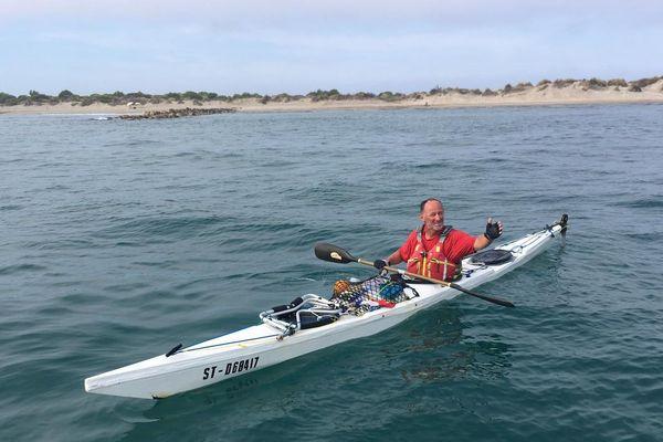 Gilles Lelièvre a traversé la mer Noire, le détroit du Bosphore, la mer Egée ou encore la mer Adriatique avant d'arriver en mer Méditerranée.