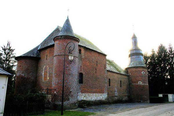 L'église de Cuiry-lès-Iviers, dans l'Aisne.