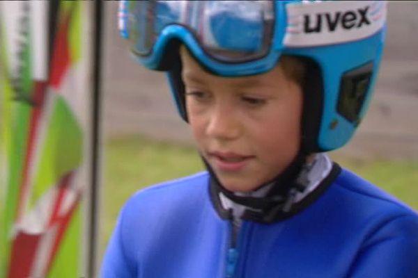 Louka Didier, jeune sauteur à ski vosgien du club de Xonrupt