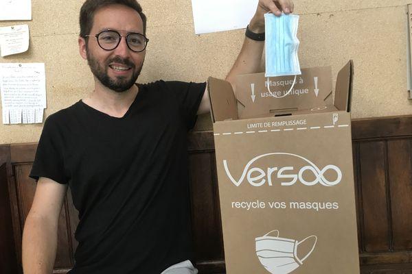 La mairie du Touvet a fait appel à la société angevine Versoo pour organiser la collecte des masques en vue de leur recyclage.
