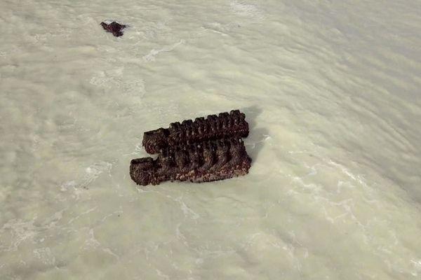Moteurs d'un Raümboot allemand coulé durant la Seconde Guerre mondiale