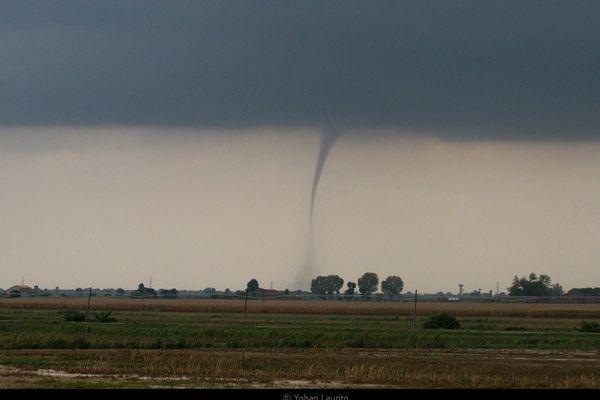 Photo d'une trombe prise par le photographe et météorologue Yohan Laurito.