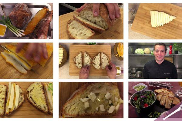 Les grandes étapes des croques au haddock fumé et au fromage