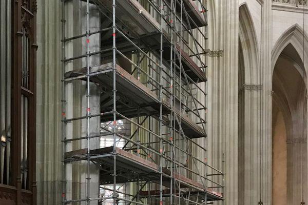 Sur le chantier de la cathédrale de Nantes, juin 2021