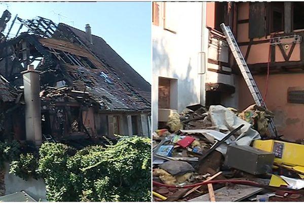 Cinq maisons ont été dévastées par l'incendie.