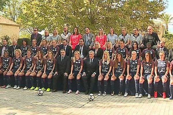 Montpellier - la nouvelle photo officielle du MHSC, équipe féminine, sans loulou - 26 septembre 2017.