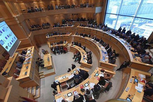 Montpellier - l'hémicycle de l'assemblée régionale - avril 2015.