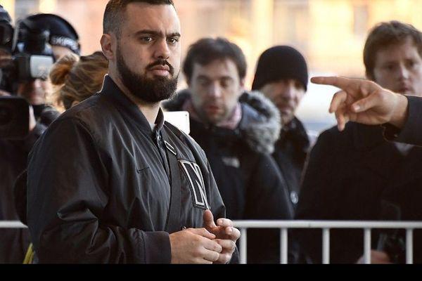 Eric Drouet avant son procès au tribunal de Paris, le 15 février 2019.