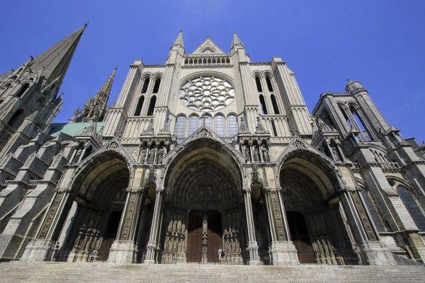 La cathédrale de Chartres, classée au patrimoine mondial de l'UNESCO.