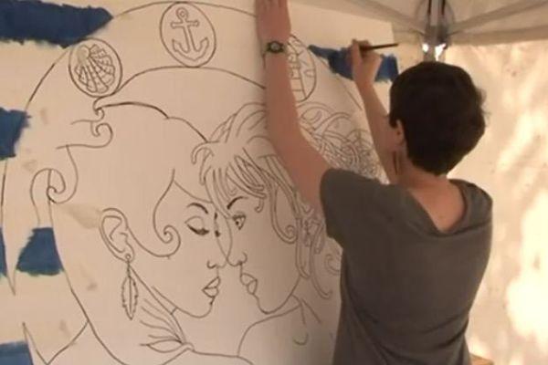 Plusieurs artistes participaient à la fête.