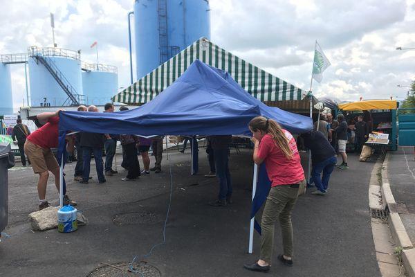 Mercredi 13 juin, les agriculteurs ont levé le blocage du dépôt de carburant de Cournon-d'Auvergne, commencé le dimanche.