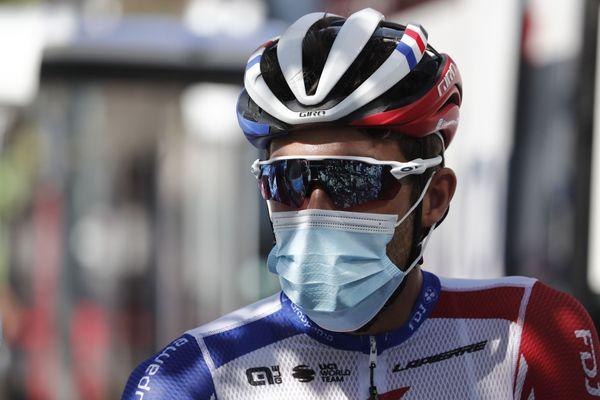 Thibaut Pinot, juste avant le départ de la première étape de la Route d'Occitanie, le 1er août 2020.