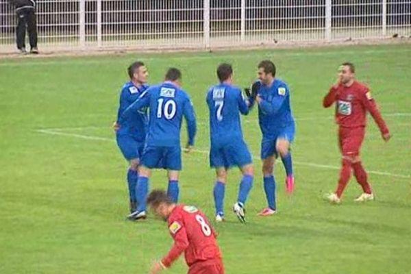 Les joueurs de l'Ain ont esquissé une danse de joie autour de Di Tommaso.