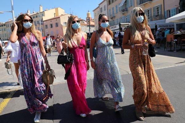 Masque obligatoire dans le Var en ville, comme sur le port de Saint-Tropez. (archive)