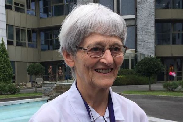 A Lourdes, soeur Bernadette Moriau.