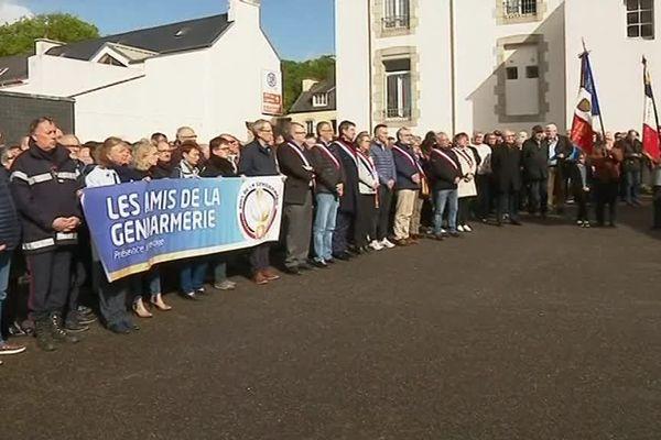 Manifestation de soutien devant la gendarmerie de Landivisiau ce samedi