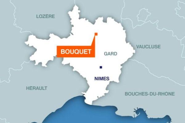 Carte de Bouquet (Gard)