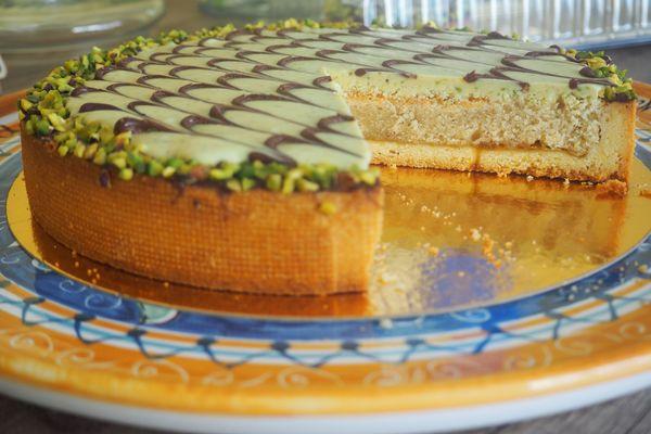 Le pistacchiosa est la spécialité de Gisa Conti, pâtissière sicilienne à Reims.