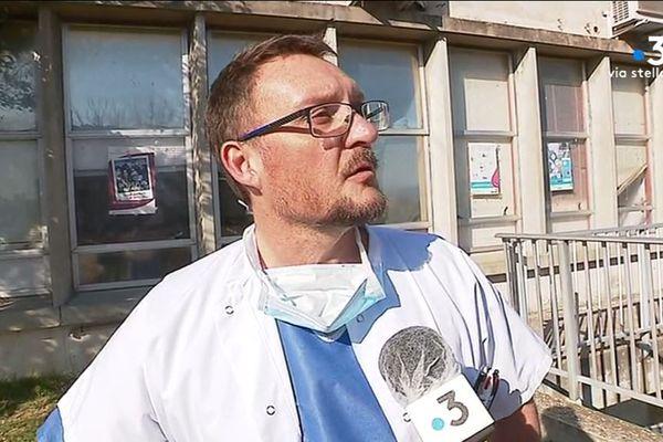 Laurent Serpin, chef du service réanimation de l'hôpital d'Ajaccio.