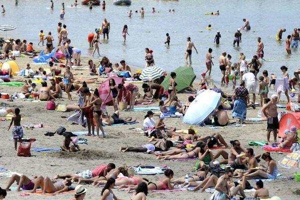 La plage de la Pointe rouge à Marseille.