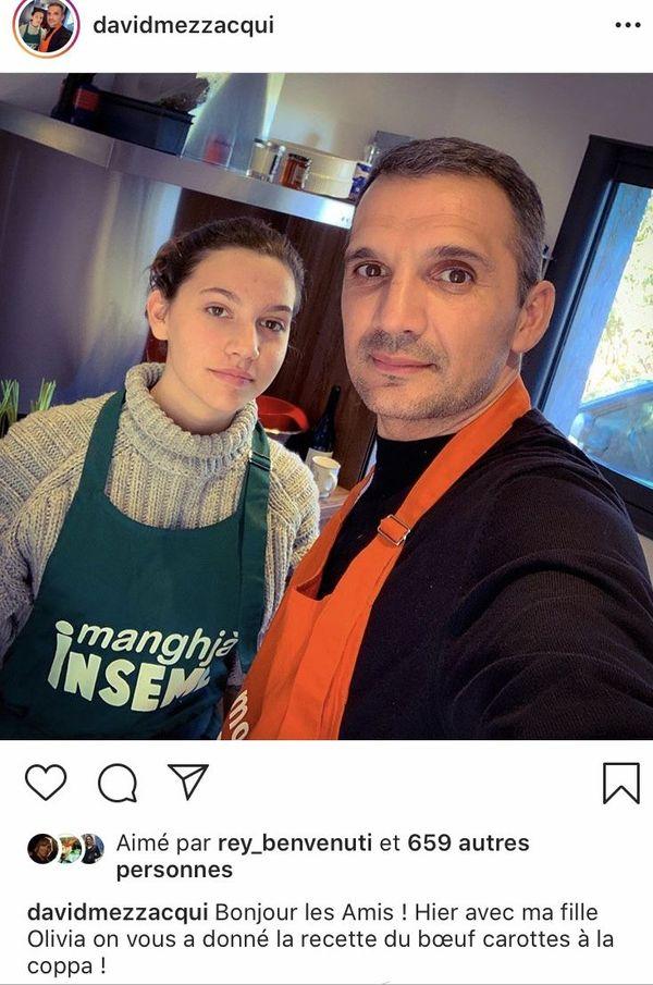 David Mezzacqui, avec sa fille Olivia, propose des recettes à faire chez soi