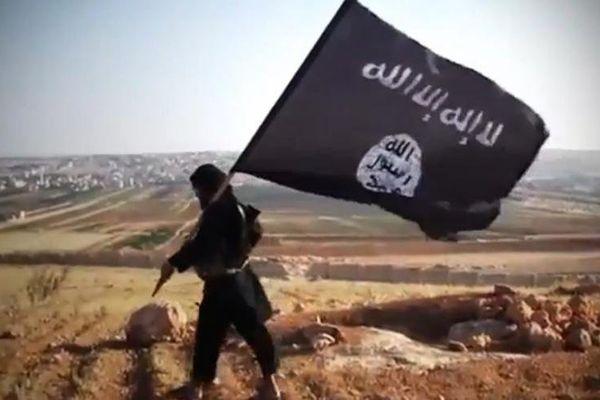 Le drapeau de l'Etat islamique.