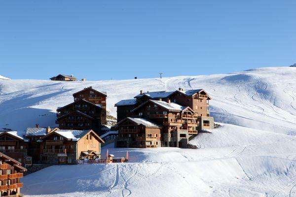 La station de ski de la Plagne, en Savoie, durant la période des sports d'hiver.