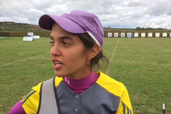 Audrey Adiceom a été sacrée championne de France de tir à l'arc en extérieur à domicile.