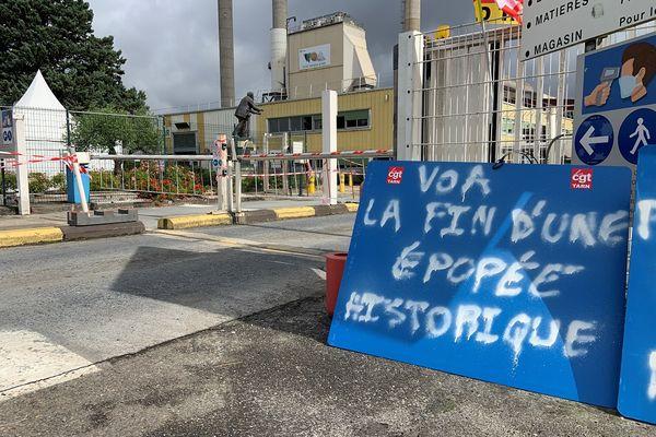 Albi - Une manifestation a lieu ce mardi devant la verrerie VOA. 29 juin 2021.