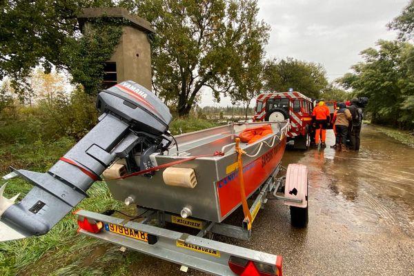 Opération de sauvetage dans un camping de Roquebrune sur Argens 4 personnes bloquées.